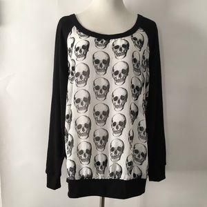 Torrid Chiffon Skull Sweatshirt 2X
